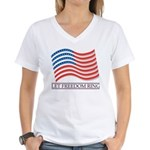 let freedom ring Women's V-Neck T-Shirt