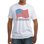 let freedom ring Fitted T-Shirt