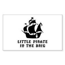 Little Pirate in the Brig Rectangle Decal