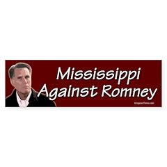 Mississippi Against Romney bumper sticker