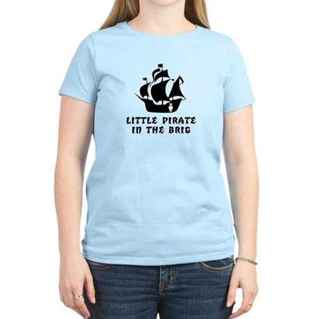 Little Pirate in the Brig Women's Pink T-Shirt