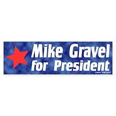 Mike Gravel for President Bumper Bumper Sticker