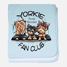 Yorkie Lover baby blanket