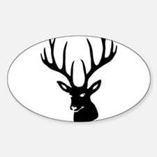 Cute Stag Sticker (Oval)