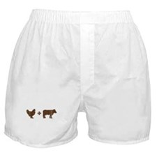 Brown Chicken Brown Cow Boxer Shorts