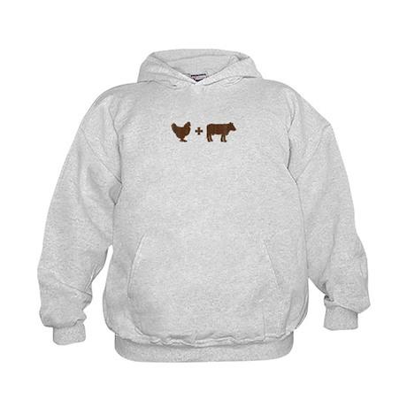 Brown Chicken Brown Cow Kids Hoodie