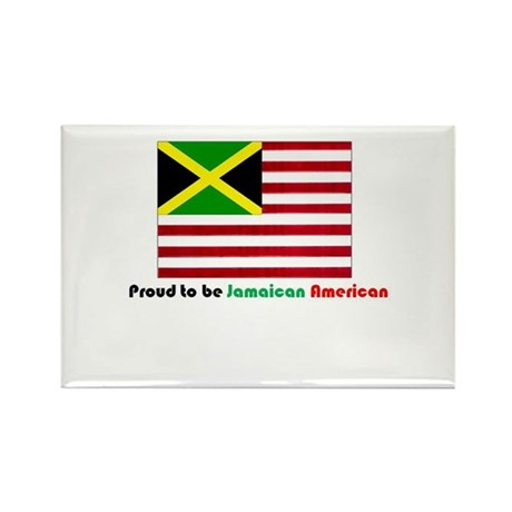 Jamaican American Rectangle Magnet