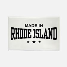 Made In Rhode Island Rectangle Magnet