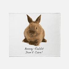 Bunny Rabbit Don't Care! Throw Blanket