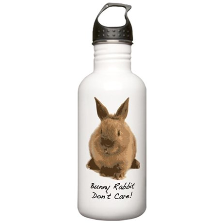 Bunny Rabbit Don't Care! Stainless Water Bottle 1.