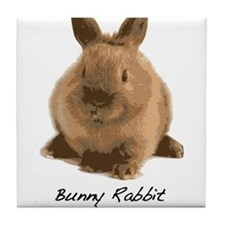 Bunny Rabbit Don't Care! Tile Coaster