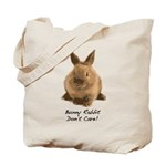 Bunny Rabbit Don't Care! Tote Bag