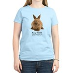 Bunny Rabbit Don't Care! Women's Light T-Shirt