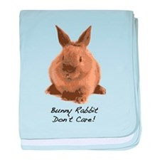 Bunny Rabbit Don't Care! baby blanket