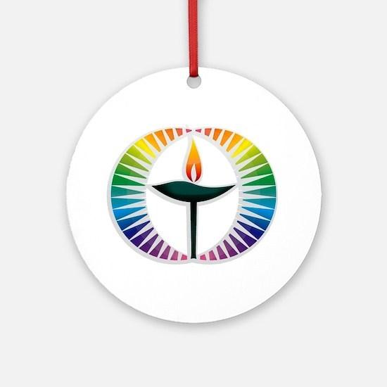 UU Rainbow Logo Ornament (Round)