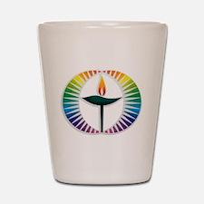 UU Rainbow Logo Shot Glass