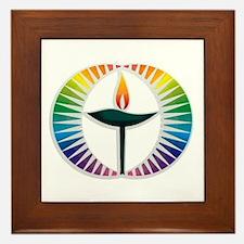 UU Rainbow Logo Framed Tile