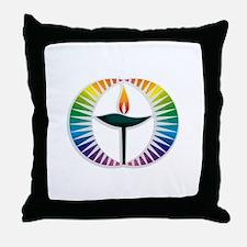 UU Rainbow Logo Throw Pillow