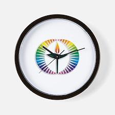 UU Rainbow Logo Wall Clock