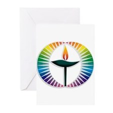 UU Rainbow Logo Greeting Cards (Pk of 20)