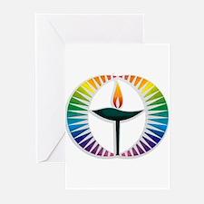 UU Rainbow Logo Greeting Cards (Pk of 20)