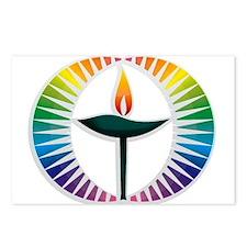 UU Rainbow Logo Postcards (Package of 8)