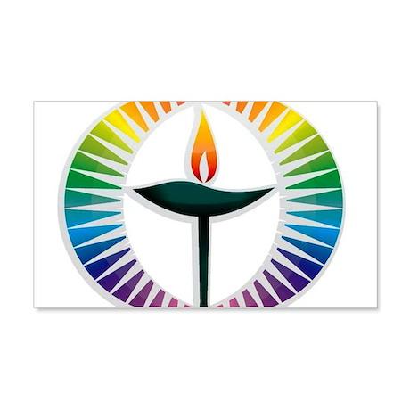 UU Rainbow Logo 22x14 Wall Peel
