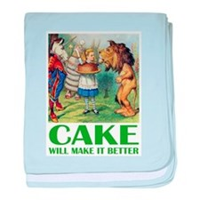 CAKE WILL MAKE IT BETTER baby blanket