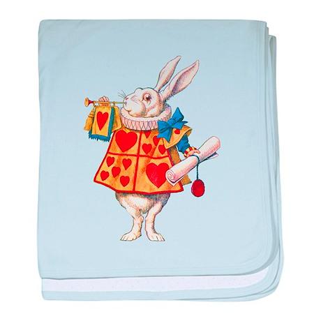 ALICE - THE WHITE RABBIT baby blanket