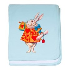 ALICE - THE WHITE RABBIT baby blanket