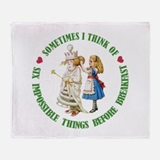 SIX IMPOSSIBLE THINGS Throw Blanket