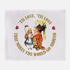 'TIS LOVE MAKES THE WORLD GO Throw Blanket