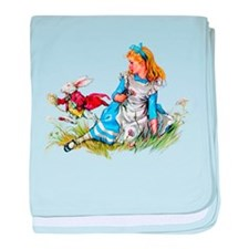 ALICE & THE RABBIT baby blanket