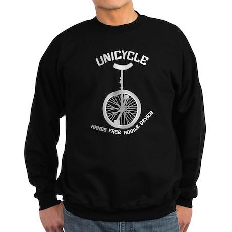 Unicycle Mobile Device Sweatshirt (dark)