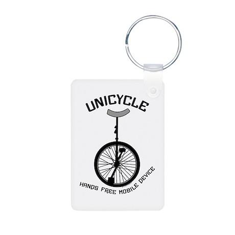 Unicycle Mobile Device Aluminum Photo Keychain