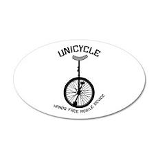 Unicycle Mobile Device 22x14 Oval Wall Peel