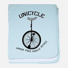 Unicycle Mobile Device baby blanket
