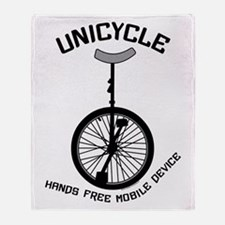 Unicycle Mobile Device Throw Blanket