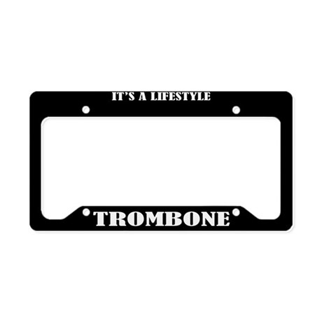 Trombone Funny License Plate Holder Gift