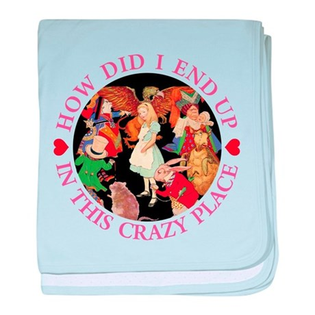 IN THIS CRAZY PLACE - PINK baby blanket