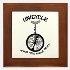 Unicycle Mobile Device Framed Tile