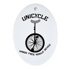 Unicycle Mobile Device Ornament (Oval)