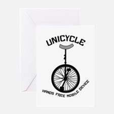 Unicycle Mobile Device Greeting Card