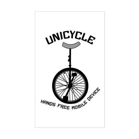 Unicycle Mobile Device Sticker (Rectangle)