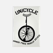 Unicycle Mobile Device Rectangle Magnet