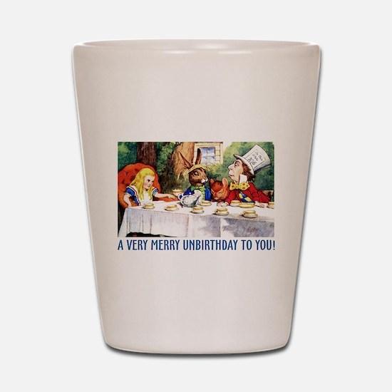 A Very Merry Unbirthday! Shot Glass