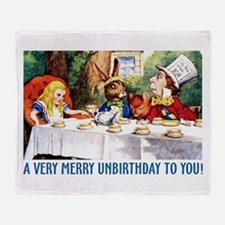 A Very Merry Unbirthday! Throw Blanket
