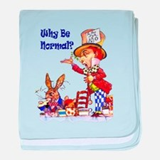 MAD HATTER - BLUE baby blanket