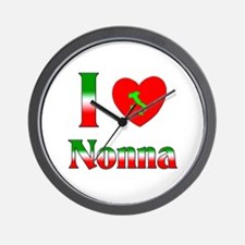 I Love Nonna Wall Clock
