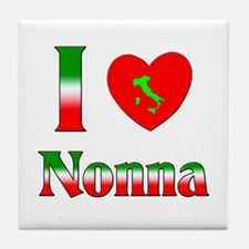 I Love Nonna Tile Coaster